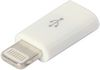 AD9074WH Lightning to Micro USB Female Adaptor - White
