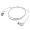 MDC1021WH Charge And Data USB To Right Angle Micro USB Cable-1 M